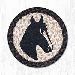 Horse Portrait Braided Tablemat - Round (10 inch)