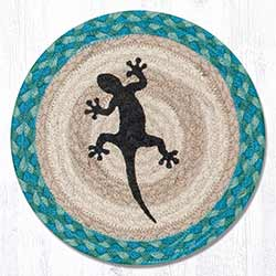 Gecko Braided Tablemat - Round (10 inch)