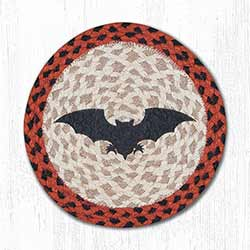 Bat Braided Tablemat - Round (10 inch)