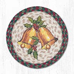 Holly Bell Braided Tablemat - Round (10 inch)