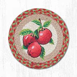 Apples Braided Tablemat - Round (10 inch)