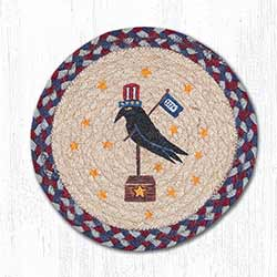 American Crow Braided Tablemat - Round (10 inch)