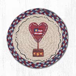 American Heart Braided Tablemat - Round (10 inch)