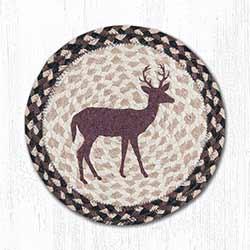 Little Buck Braided Tablemat - Round (10 inch)