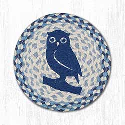Blue Owl Braided Tablemat - Round (10 inch)