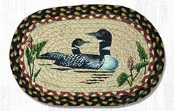Loon Hand Braided Tablemat - Oval (10 x 15 inch)