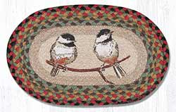 Chickadee Hand Braided Tablemat - Oval (10 x 15 inch)
