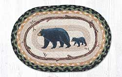 Mama & Baby Bear Braided Tablemat - Oval (10 x 15 inch)