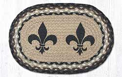 Fleur de Lis Braided Tablemat - Oval (10 x 15 inch)