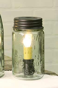 Mason Jar Lamp - Pint Size