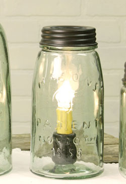 Mason Jar Lamp - Quart