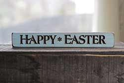 Happy Easter Wood Shelf Sitter