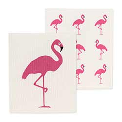 Flamingo Swedish Dish Cloths (Set of 2)