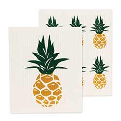 Pineapple Swedish Dish Cloths (Set of 2)