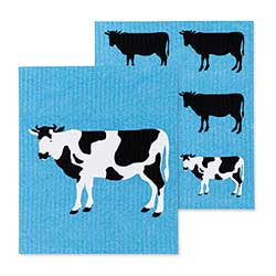 Cow Swedish Dish Cloths (Set of 2)