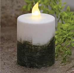 Ombre Timer Pillar Candle - 2.5 x 4 inch