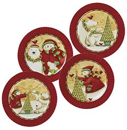 Christmas Joys Dessert Plate