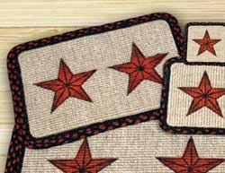 Barn Star Wicker Weave Placemat