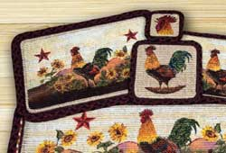 Morning Rooster Wicker Weave Placemat