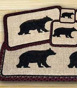 Cabin Bear Wicker Weave Placemat