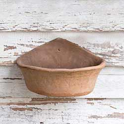 Rustic Terra Cotta Wall Planter - Large