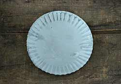 Gray Fluted Pedestal Candle Pan - 7 inch