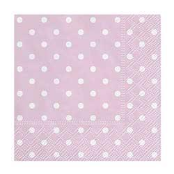 Pink Polka Dot Cocktail Paper Napkins