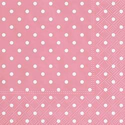 Pink Polka Dot Luncheon Paper Napkins