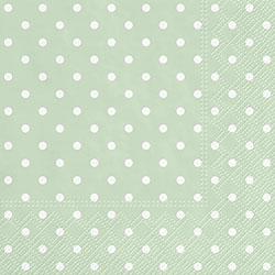 Mint Polka Dot Luncheon Paper Napkins