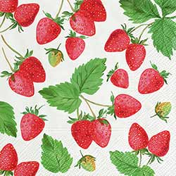 Fresh Strawberries Paper Luncheon Napkins