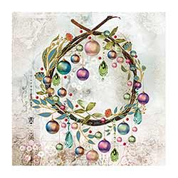 Crystal Baubles Luncheon Paper Napkins