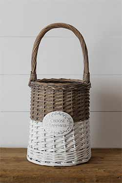Choose Happiness Willow Basket