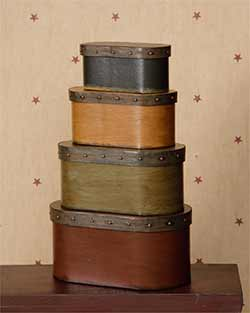 Primitive Oval Stacking Boxes (Set of 6)