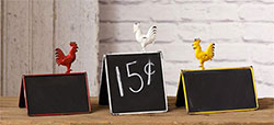 Rooster Mini Chalkboards (Set of 3)
