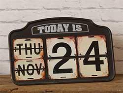 Vintage Style Perpetual Calendar