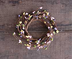 Pink, Purple, Yellow, Green Berry Candle Ring