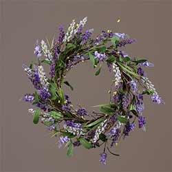 Lavender Flower Wreath