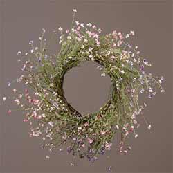 Pink & Lavender Wispy Flower Wreath