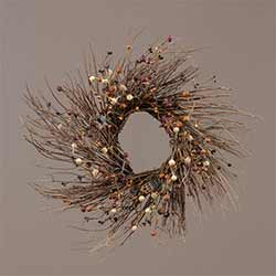 Primitive Star & Saltbox House Berry Wreath