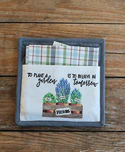 Plant a Garden Pot Holder Set