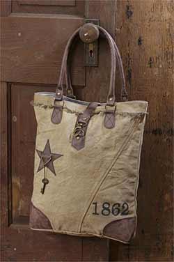 1862 Classic Vintage Canvas Handbag