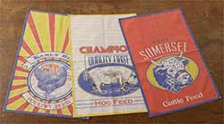 Farm Feed Sack Tea Towels (Set of 3)