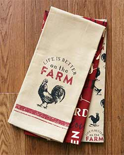 Farm Life Kitchen Towels (Set of 3)