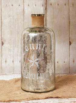 Large Mercury Glass Bottle