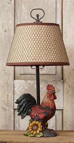 Rooster Table Lamp with Shade