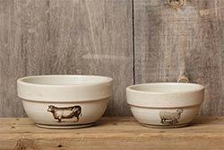 Sheep & Cow Bowls (Set of 2)