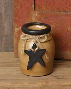 Primitive Black Star Small Mouth Crock