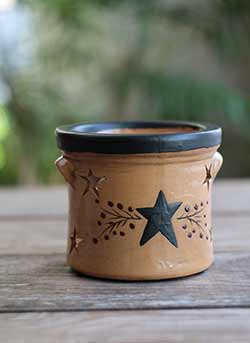 Primitive Black Star Candle Holder
