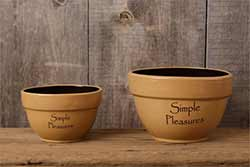 Simple Pleasures Primitive Bowls (Set of 2)