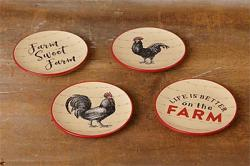 Farm Rooster Mini Plate